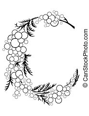 Abstract floral branch - Illustration of abstract mimosa...