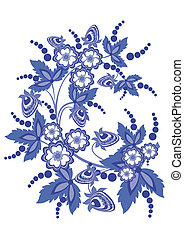 Abstract floral branch - Illustration of abstract floral...
