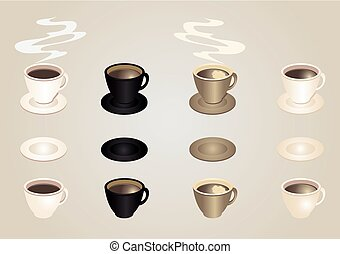 Coffee cups and saucers collection