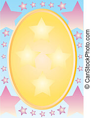 background with golden oval