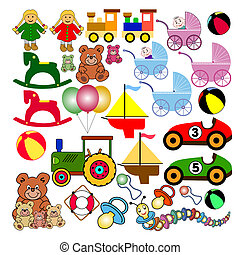 collection of toys - collection of colorful toys useful for...
