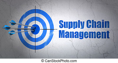 Marketing concept: target and Supply Chain Management on...