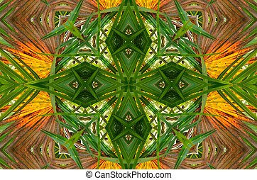 Palmetto patterns - Golden and green palmetto fans...