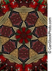 Christmas Kaleidoscope Flair - A kaleidoscope pf Christmas...