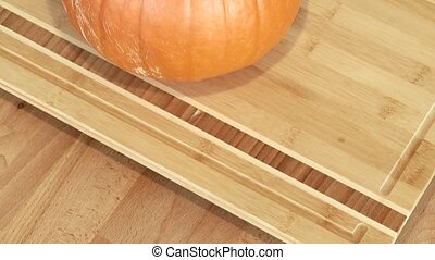 Woman Cutting a Pumpkin - Video footage of cutting a pumpkin...