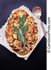 Thanksgiving Dressing - Home made stuffing with antique...