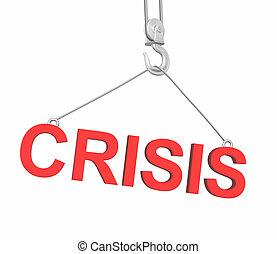 Construction crisis - Conceptual 3d image - construction...