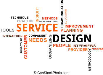 word cloud - service design - A word cloud of service design...
