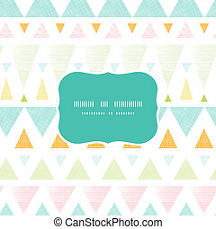 Abstract ikat triangles stripes frame seamless pattern...
