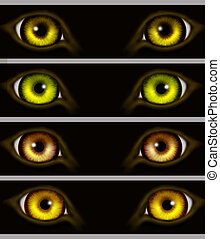 yeux, animaux