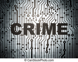 Security concept: circuit board with Crime