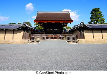 Kyoto Imperial Palace - Kyoto, Japan - gate to Imperial...