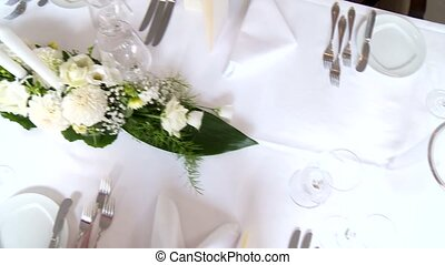 Table Setting - video footage of a Table Setting
