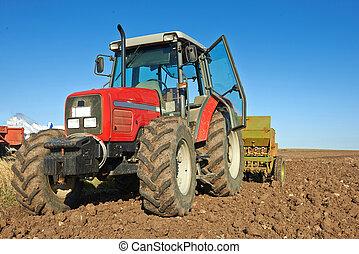 agrícola, semillas, siembra,  tractor