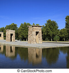 Famous Debod Temple in Madrid, Spain