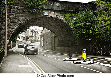 European Hill Road Under Arch