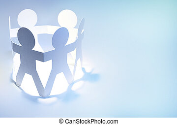 Bonding - Group of people holding hands in a circle