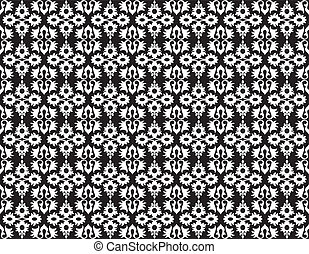 white ottoman seamless pattern
