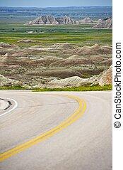 South Dakota Badlands. Badlands National Park, SD, U.S.A....