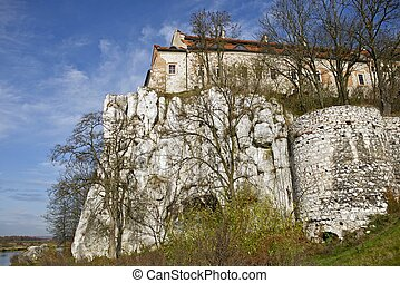 Tyniec Abbey - Tyniec - Krakow Benedictine Abbey on Rock...