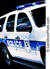 coche, policía,  suv