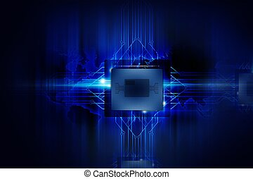 Powerful Processor - Nano Technology - Computers Background....