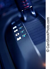 Automatic Transmission Shift Stick - Closeup Photography....