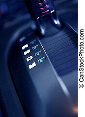 Automatic Transmission Shift Stick - Closeup Photography....