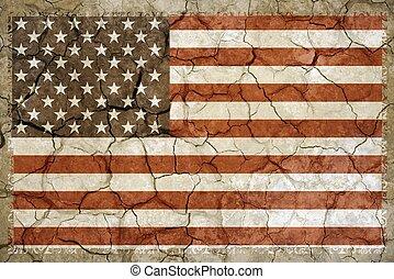 norte, norteamericano, sequía
