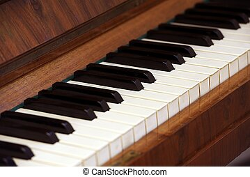 Antique Piano Keys Piano Closeup Photography Music Photo...