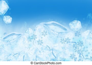 Icy Ice Background. Cool Frozen Water Illustration. Great As...