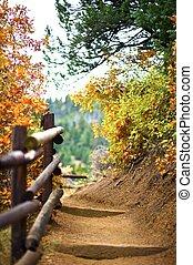 Mountain Trail. Manitou Springs, Colorado USA. Fall in...