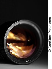 Photography Lens - Camera Lens 85mm f14 In The Dark...