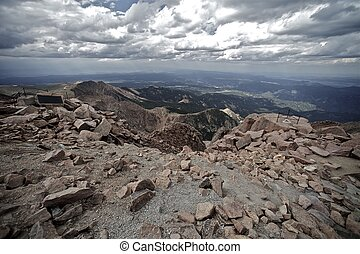 Pikes Peak View. Amazing View From Pikes Peak Colorado.