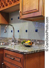 Countertop - Granite Kitchen Countertop and Wood Kitchen...