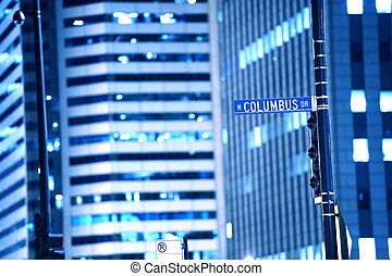 N Columbus Drive Chicago Street Sign. Downtown Chicago by...