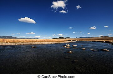Platte River - South Platte River. South Central Colorado...