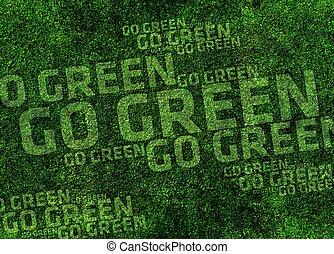 Go Green Background - Grassy Go Green Background Design....