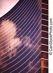 Glassy Skyscraper - Sunset. Mirror Skyscraper. Southern...