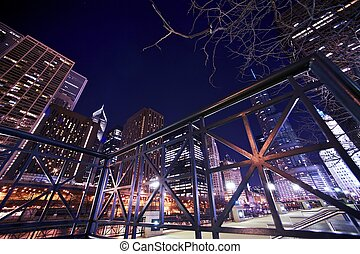 Riverwalk in Chicago Riverwalk by Night in the Heart of...