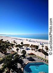 Tampa Beach - Tampa Florida Beach. Tampa, FL USA. Clear Blue...