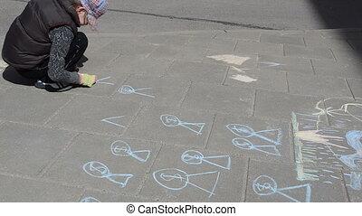 yard draw chalk