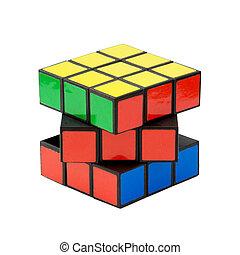 Classic Rubik's cube - In a classic Rubik's cube, each of...