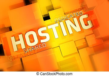 Web Hosting - Dedicated and Shared Web Hosting 3D Render...