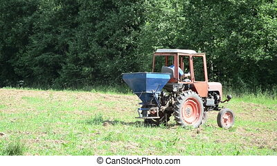 machine seed sow field - Special agriculture heavy machine...