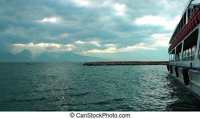 Landscape near ferryboat - Landscape near the ferryboat Time...
