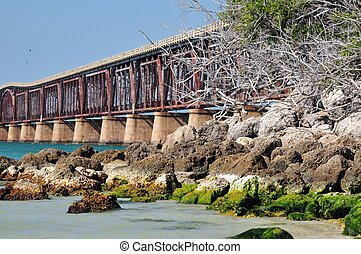 Bahia Bridge - Bahia Honda State Park Bridge and Rocky Beach...