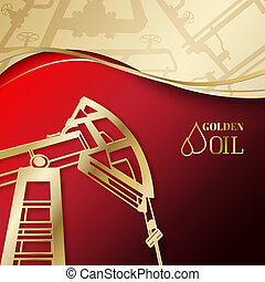 Oil industry design. - Oil industry pump design. Vector...