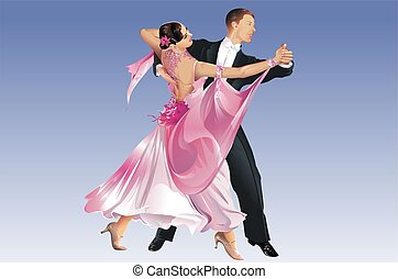 Classic Dancers. Tango Dance. Dancing Competition. This is...