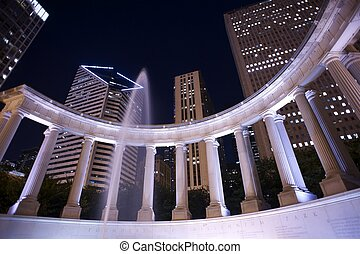 Millennium Park Founders Fountain Millennium Park at Night...